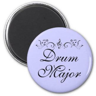 Regalo bonito de la banda del tambor mayor imán redondo 5 cm
