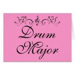 Regalo bonito de la banda del tambor mayor tarjeta