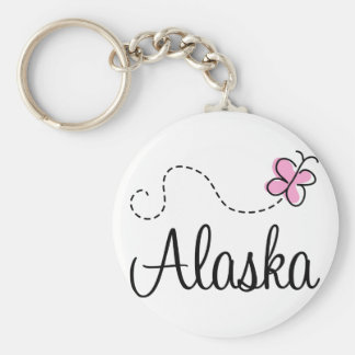 Regalo bonito de la camiseta de Alaska Llavero Personalizado