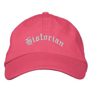 Regalo bordado historiador del casquillo del gorra gorras de beisbol bordadas