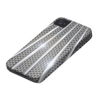 regalo brillante del cromo 3D del carbono del caso Funda Para iPhone 4 De Case-Mate