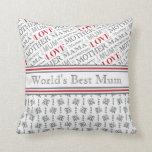 Regalo británico del día de madre de la mejor momi almohada