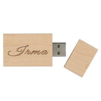Regalo calificado nombre de IRMA para ella Pen Drive De Madera USB 2.0