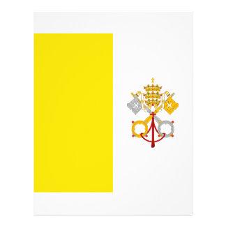 """Regalo católico de Roma de la bandera de la Ciudad Folleto 8.5"""" X 11"""""""