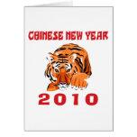 Regalo chino 2010 del Año Nuevo Tarjetón