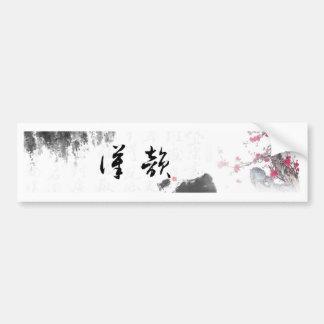 Regalo chino de encargo del símbolo pegatina para auto