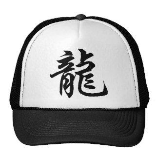 Regalo chino de la caligrafía del dragón del zodia gorros bordados