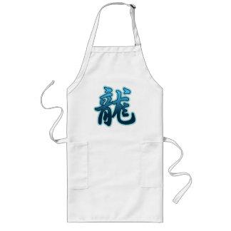 Regalo chino del dragón de agua de la muestra del  delantal largo
