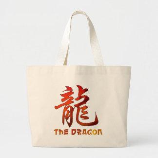 Regalo chino del dragón de la muestra del zodiaco bolsa de tela grande