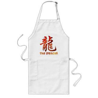 Regalo chino del dragón de la muestra del zodiaco delantal largo
