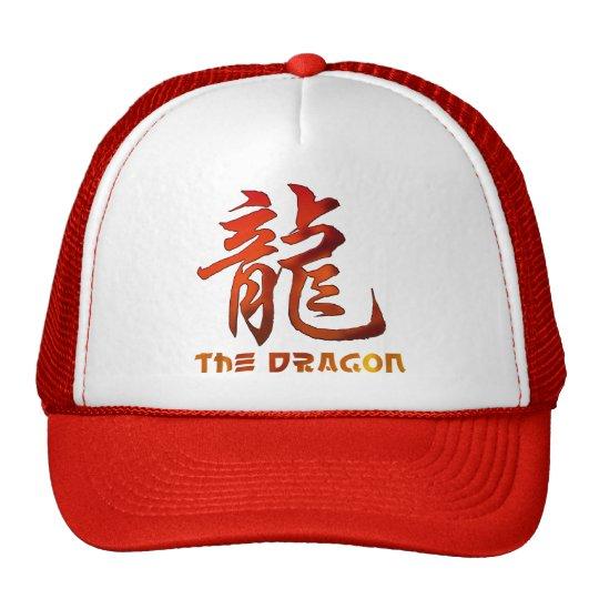 Regalo chino del dragón de la muestra del zodiaco gorros bordados