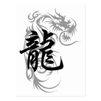 Regalo chino del dragón del zodiaco postales