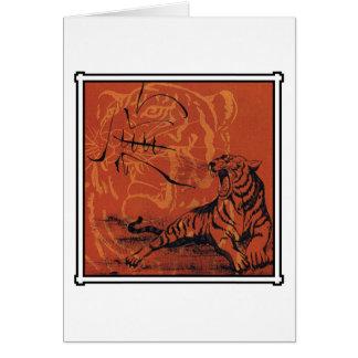 Regalo chino del tigre del zodiaco tarjeta de felicitación