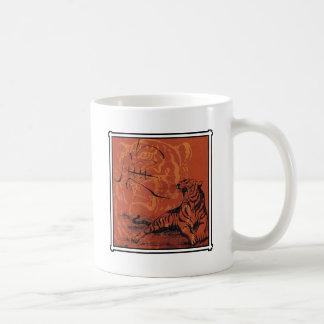 Regalo chino del tigre del zodiaco taza clásica
