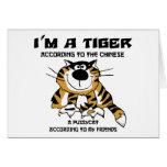 Regalo chino divertido del tigre del zodiaco tarjeton