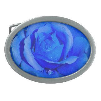 Regalo color de rosa azul de los rosas de las hebi hebilla cinturón