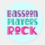 Regalo colorido de la música rock de los jugadores etiqueta redonda