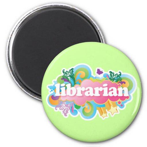 Regalo colorido del bibliotecario de la explosión imán redondo 5 cm