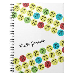Regalo colorido del día de la MOD pi Cuadernos
