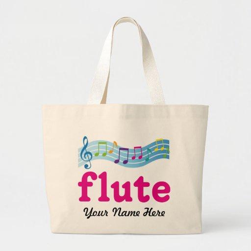 Regalo colorido personalizado de la flauta del per bolsa tela grande