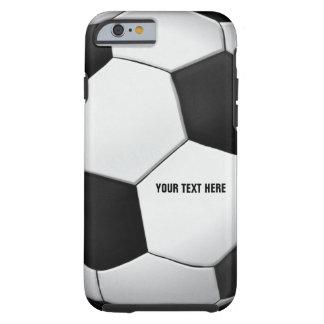 Regalo con clase del deporte del fútbol del fútbol funda para iPhone 6 tough