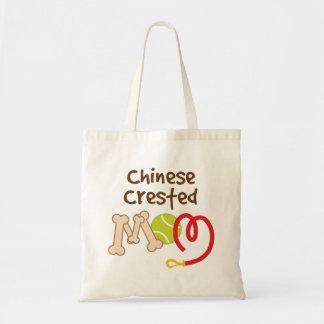 Regalo con cresta chino de la mamá de la raza del bolsa tela barata
