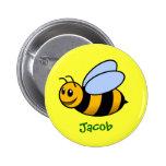 Regalo conocido personalizado abeja linda del dibu pins