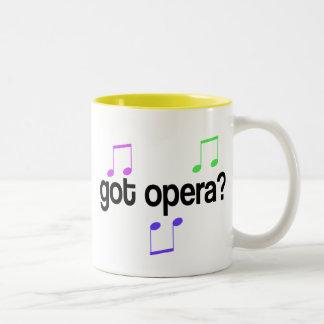 Regalo conseguido de la música de la ópera taza de dos tonos