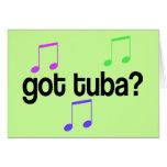 Regalo conseguido de la música de la tuba tarjeta