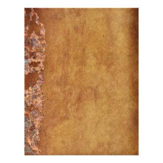 Regalo corroído Grunge rústico del pergamino Plantillas De Membrete