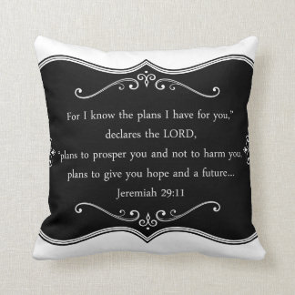 Regalo cristiano de encargo del 29:11 de Jeremiah Cojín