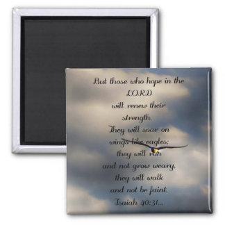 Regalo cristiano de encargo del verso de la biblia imán de frigorífico