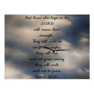 Regalo cristiano de encargo del verso de la biblia postal