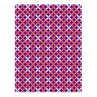 Regalo cruzado blanco rosado púrpura bonito del postal