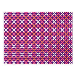 Regalo cruzado blanco rosado púrpura bonito del postales