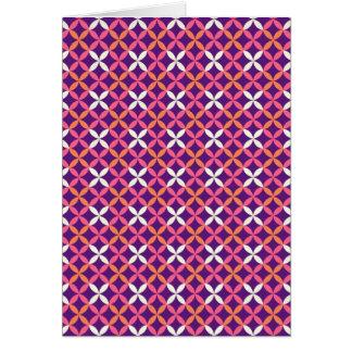 Regalo cruzado blanco rosado púrpura bonito del tarjeta de felicitación
