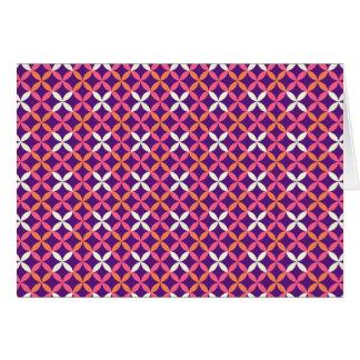 Regalo cruzado blanco rosado púrpura bonito del tarjeta pequeña
