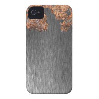 Regalo de acero corroído divertido del metal iPhone 4 Case-Mate funda