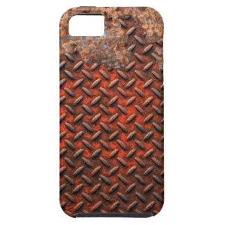 Regalo de acero corroído divertido del metal oxida iPhone 5 fundas