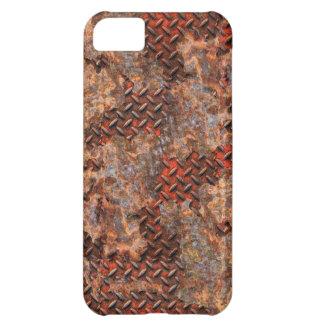 Regalo de acero corroído divertido del metal oxida funda para iPhone 5C