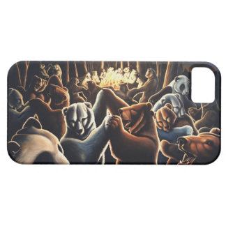 Regalo de baile del oso del arte de la fauna del c iPhone 5 cárcasa