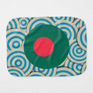 Regalo de Bangladesh femenino de la bandera Paños Para Bebé