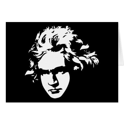 Regalo de Beethoven del compositor de la música cl Felicitacion