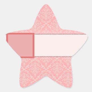 Regalo de boda anaranjado claro del damasco pegatina en forma de estrella