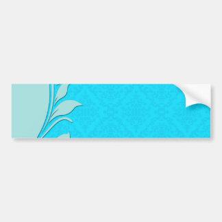 Regalo de boda azul claro de los remolinos pegatina de parachoque
