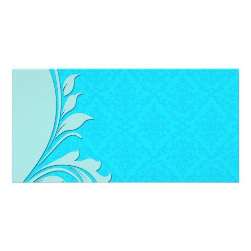 Regalo de boda azul claro de los remolinos tarjetas personales