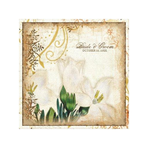 Regalo de boda botánico de los lirios del lirio pe lona estirada galerías