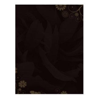 Regalo de boda de las flores y de las mariposas de tarjeta postal