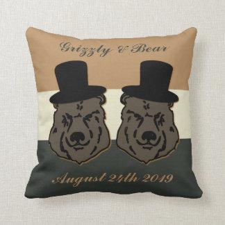 Regalo de boda del orgullo del oso para los cojín