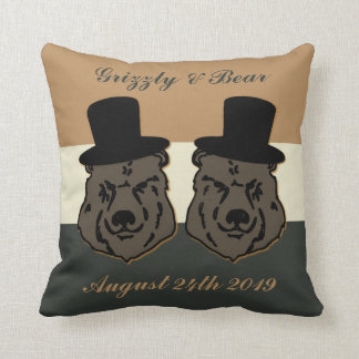 Regalo de boda del orgullo del oso para los cojín decorativo